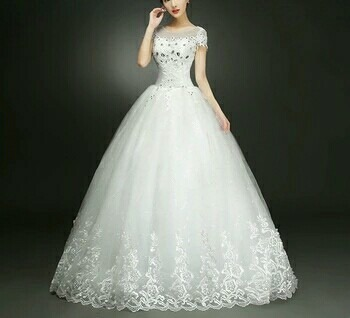 Wedding gowns white wedding ball gown v neck manufacturer from white wedding gown junglespirit Images