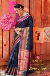 rajtex korra Silk Saree, With Blouse Piece