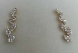 925 Diamond Silver Earrings
