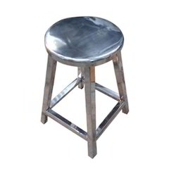 Round Steel Stool / Fixed Stool