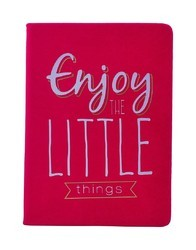 Ayre Pink Novelty Fancy Notebook A5 Diary - PU Leatherite Cover