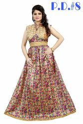 Bhagalpuri Silk Party Wear Gown
