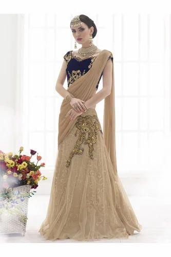 Ethnic Bridal Wear Net Lycra Lehenga Choli at Rs 2450 /piece(s ...