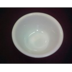 White Plastic Serving Bowl, Round, Packaging Type: Box