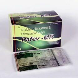Aceclofenac 100mg Paracetamol 325mg Chlorzoxazone 250mg Tablets