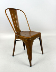Iron Cello Chair With Copper Finish