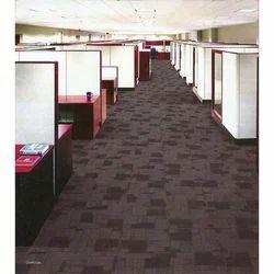 Geometry Charcoal PP Carpet floor Tiles
