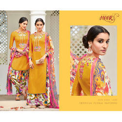 Printed Semi Patiala Suit