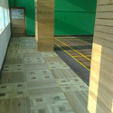 Maple And Teak & Pine Wood Sports Wooden Corridor Flooring