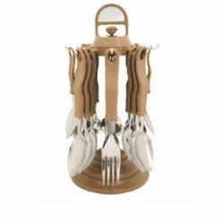 Brown Round Standard Cutlery Set