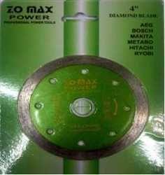 ZOMAX Marble Cutting Blade 4 Inch Segment Cut