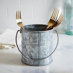 Wedding World Galvanised Utensil Holder, 7 x 5