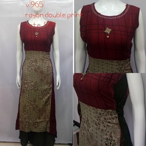 Double Layer Casual Wear Kurti