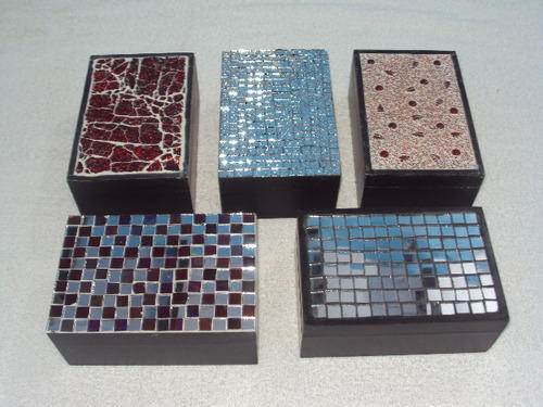 Glass Mosaic And Wooden Boxes View Specifications Details Of