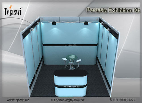Portable Toilet Exhibition : 3 meter x 3 meter portable expo booth combo tejaswi services pvt