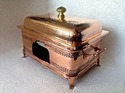 Copper Hammered Taj Mahal Chafing Dish
