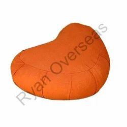 Cotton Crescent Zafu Cushion, Size: Standard