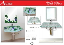 Roca Multi Colored Glass Tempered Wash Basin