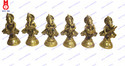 Lord Ganesha Standing Playing Musical Set Of 6 Pcs Statue