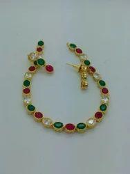 Color Stone Necklace Set