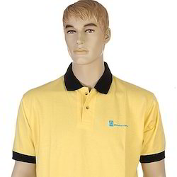 Yellow and Black Knitted Promotional T-Shirts, Size: S- XXL