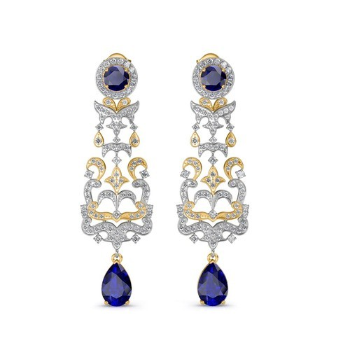 Chandelier Diamond Earrings Size Product Height55 Mm Width21