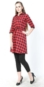 Cotton Check Women Tunics