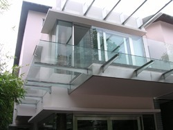 Cantilever Glass Canopy