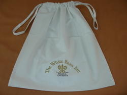 White Laundry Bag with Logo
