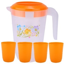 Plastic Water Jugs with Glasses
