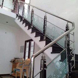Indoor SS Glass Railing