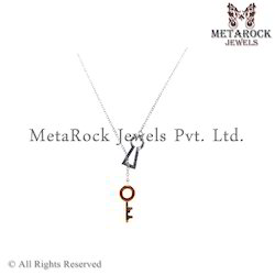 14k Gold Key Designer Charms Gemstone Pendant