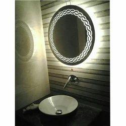 Round Bathroom Backlit Mirror