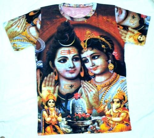 83f31adf Male Printed Hindu Gods Pictures T-shirts, Rs 255 /piece | ID ...