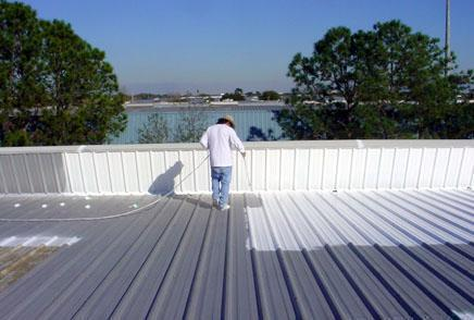 Heat Insulation For Metal And Concrete Roofs Metal