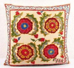 Embroidered Suzani Cushion Pillow Covers Throw