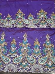 Heavy Beaded George Fabric