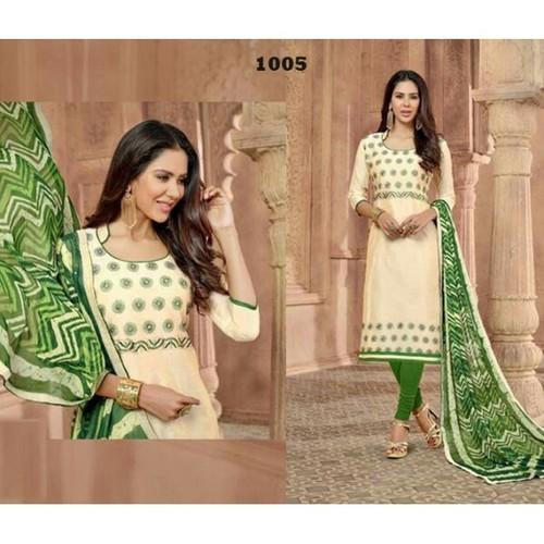 6e7cac1c63 Up-to Xxl White Chanderi Salwar Suit, Rs 550 /piece, Sri Styles | ID ...