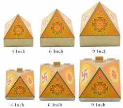 Wooden Pyramid Box Hindu Design