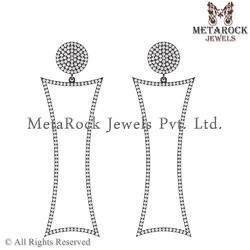 Micro Pave Diamond Earring Jewelry