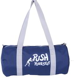 Printed Blue Duffel Bag