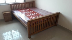 Full Wooden Bed