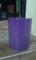 Purple Pillar Candles