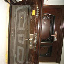 Metal Brown Safety Door