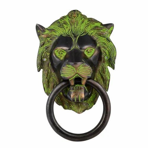 Brass Lion Door Handle