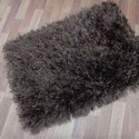 Black Polyester Shaggy Carpet