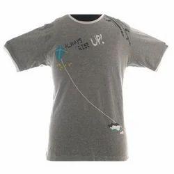 Grey Milange Boys Casual T-Shirt