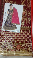 6 Colour Available Synthetic Bridal Sarees, Construction Type: Machine