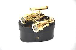 Full Brass Binocular with Leather Belt Vintage Style Collect