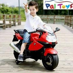 Red Kids Battery Operated BMW Bike